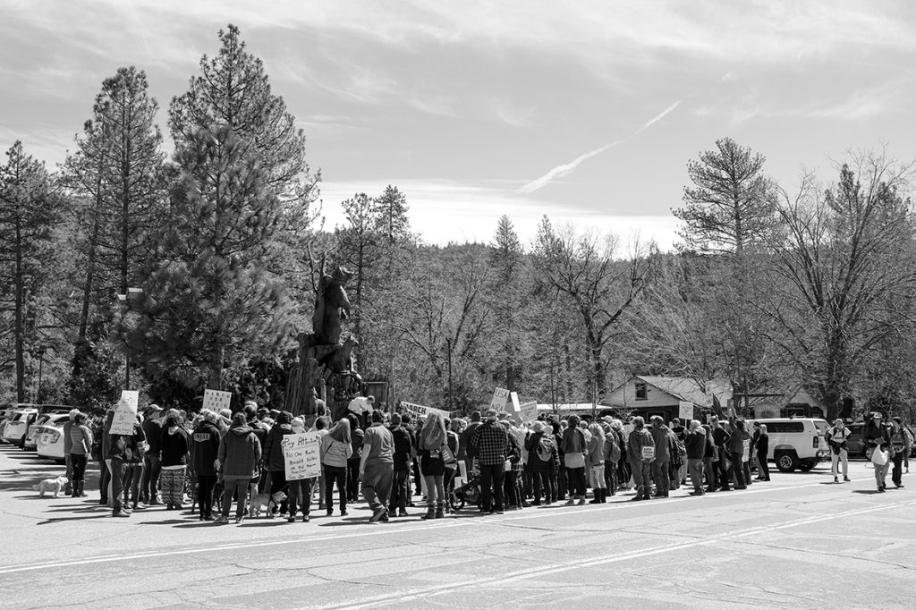 protest in Idyllwild california
